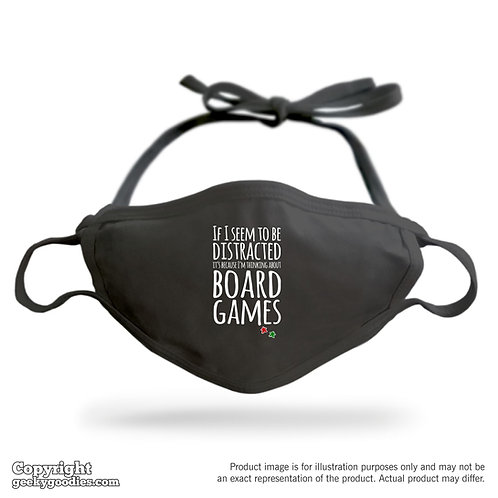 Thinking About Board Games Adjustable Cloth Face Mask