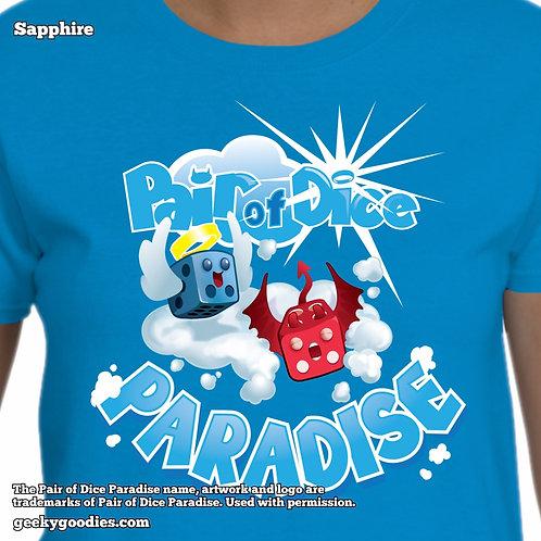 Pair Of Dice Paradise - Bouncy Clouds Women's / Ladies Tshirt