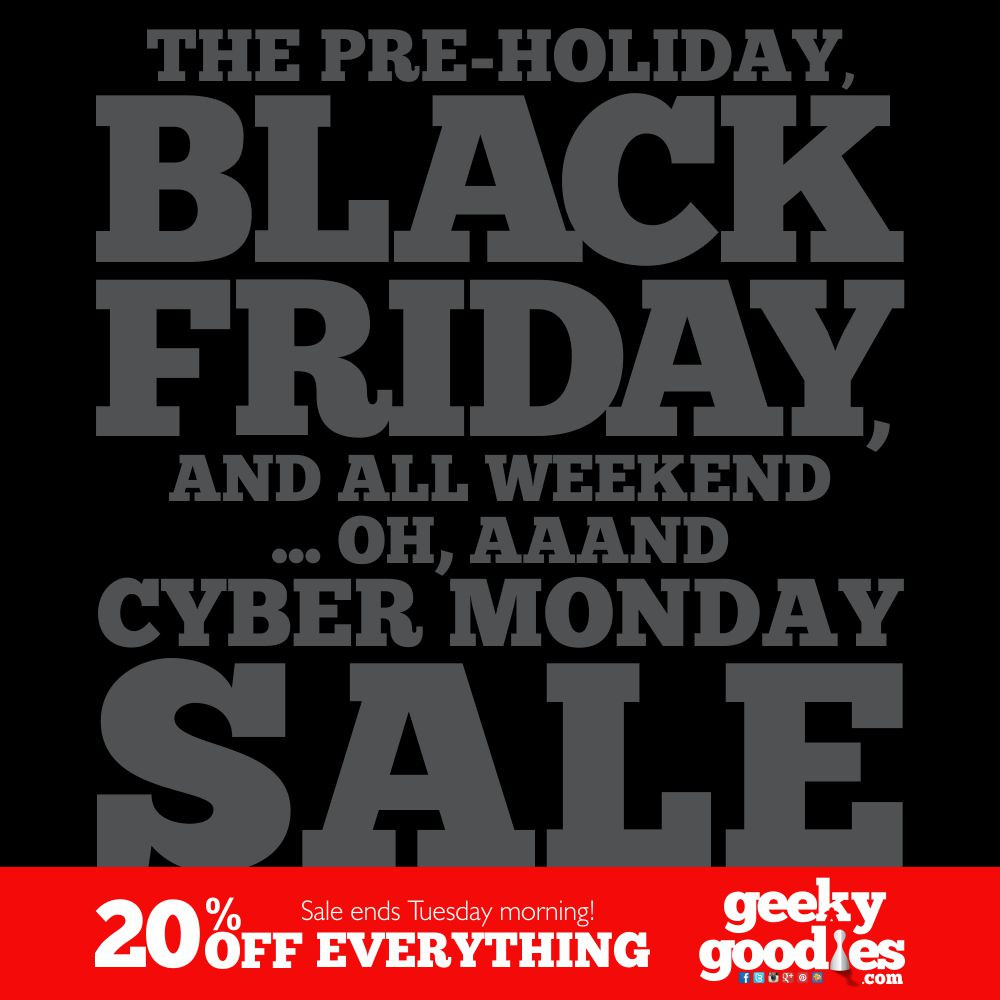 Pre-Holiday Black Friday, and All Weekend... Oh, aaand Cyber Monday Sale at Geeky Goodies!  | Tshirts for Board Gamers | Geeky Goodies