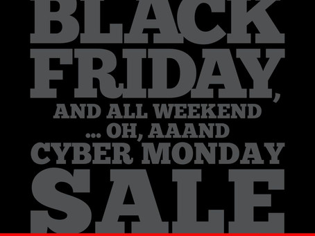 Geeky Goodies Pre-Holiday, Black Friday, and All Weekend... oh, aaand Cyber Monday Sale!