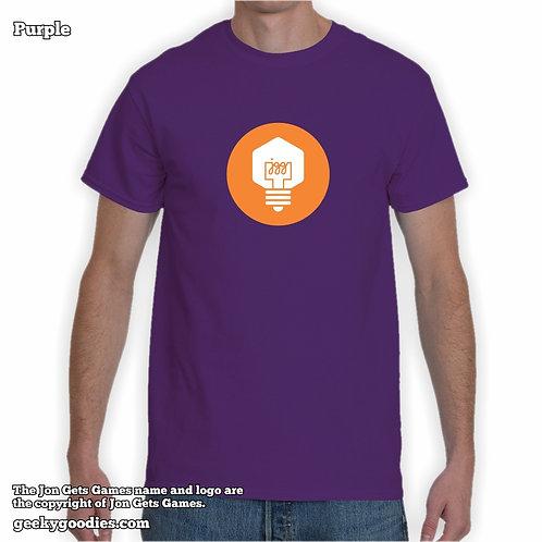JonGetsGames (Orange Logo) Mens/Unisex T-shirt