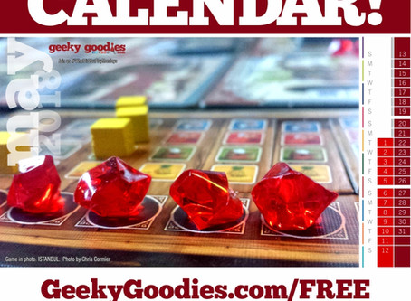 FREE Board Game Calendar for May 2018