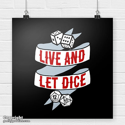 Live and Let Dice Poster