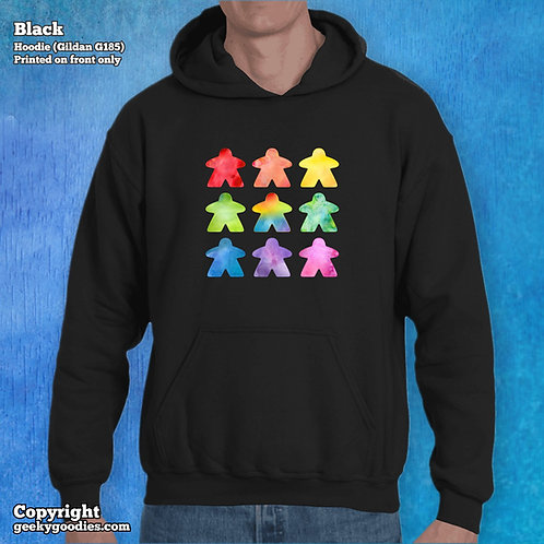 The Watercolor Meeple Unisex Hooded Sweatshirts