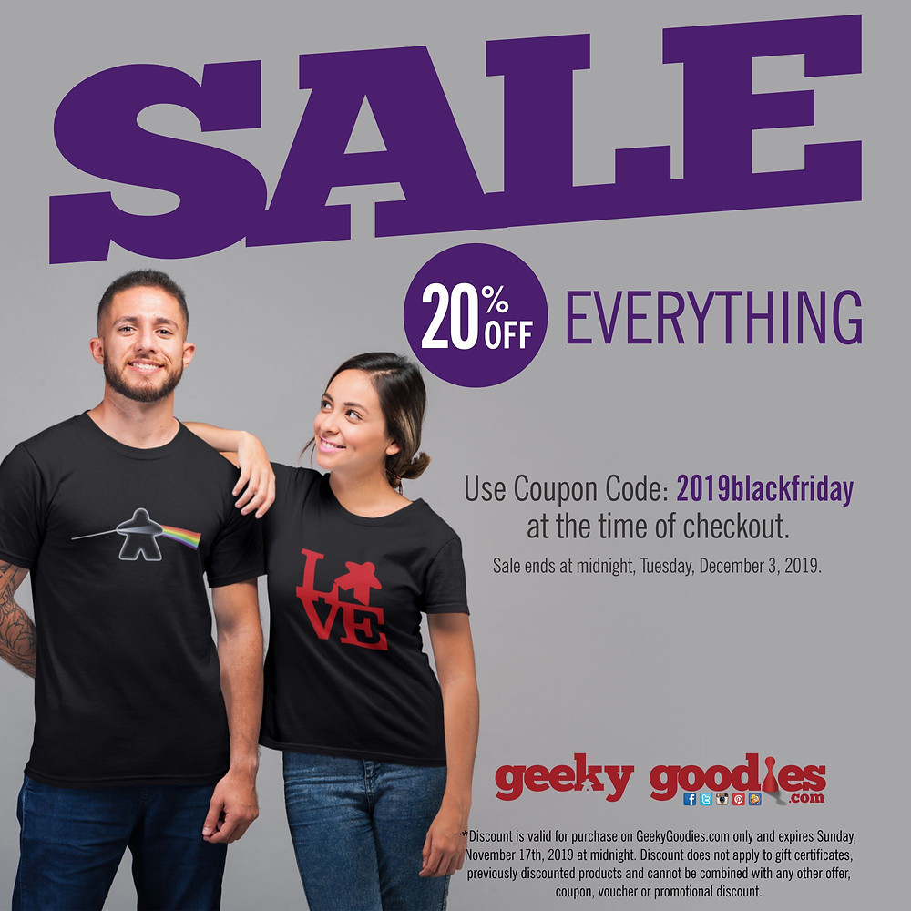 Black Friday SALE! 20% OFF Everything at GeekyGoodies.com