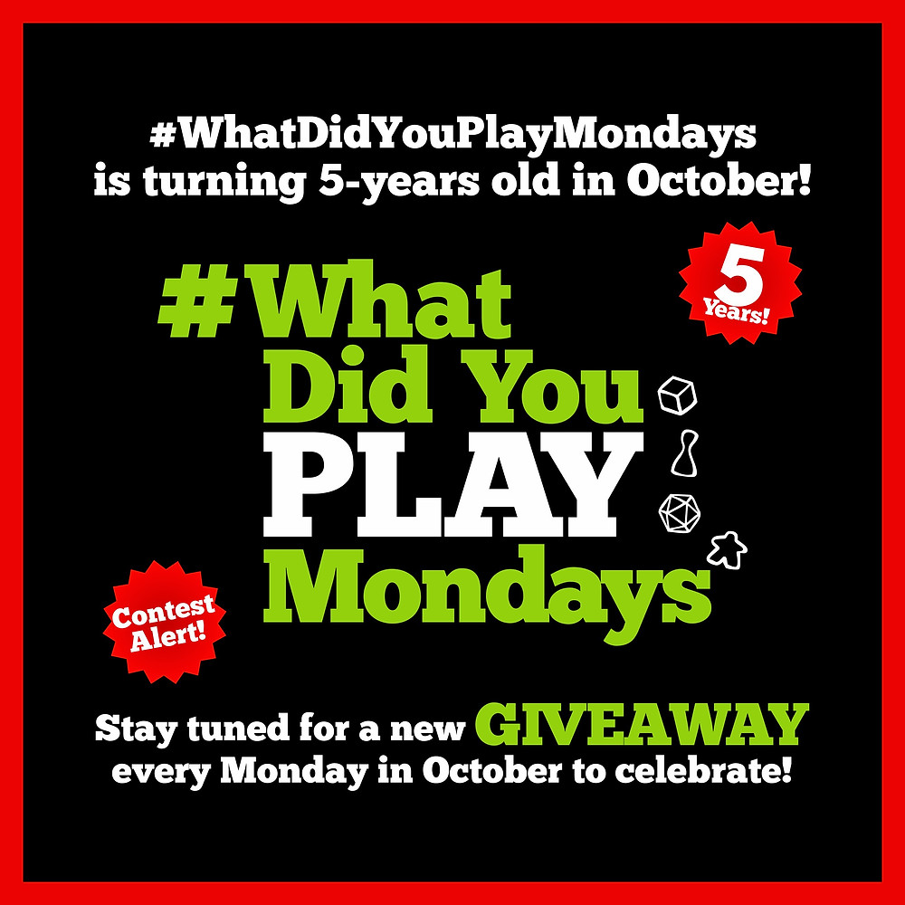#WhatDidYouPlayMondays 5th Anniversary Giveaway