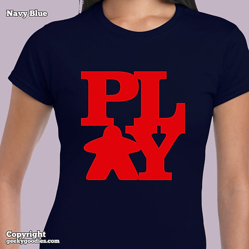 PLAY (Meeple) Ladies FITTED T-shirt