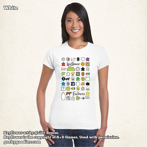 Keyflower: The Farmers Women's FITTED White Tee