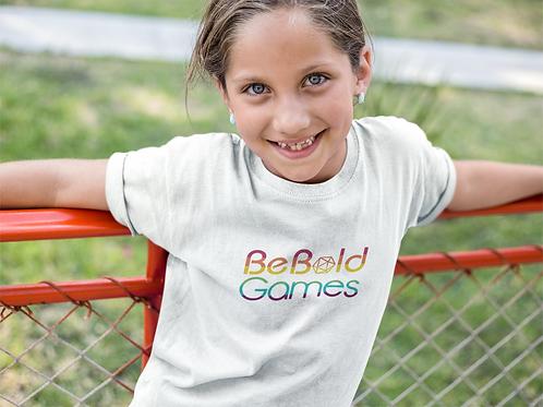 Be Bold Games Rainbow Logo Children's T-shirts