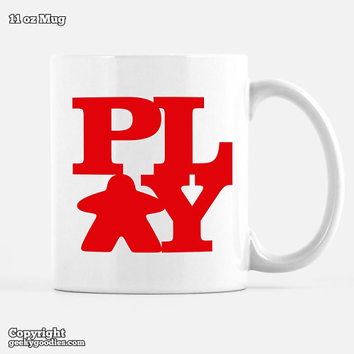 PLAY (Meeple) Coffee Mug