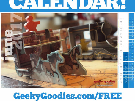 FREE Board Game Calendar for June 2017