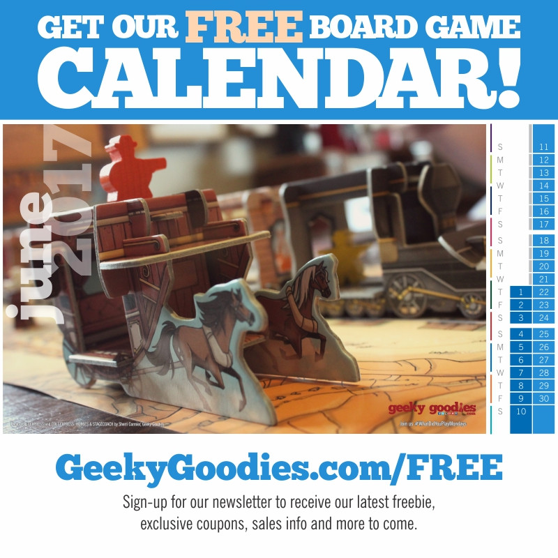 Get our FREE board game Calendar | Geeky Goodies | PnP printable board gaming calendar and desktop wallpaper calendar