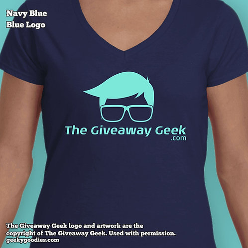 The Giveaway Geek Ladies FITTED T-shirts