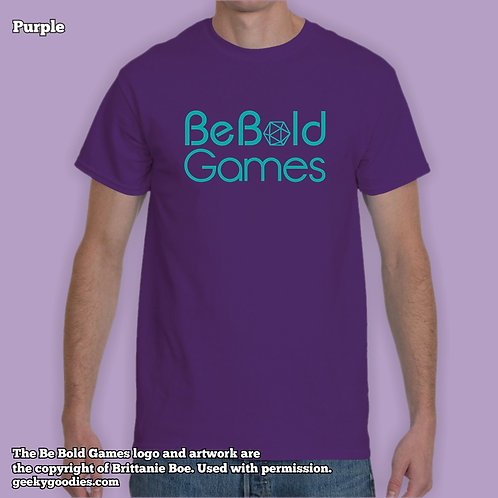 Be Bold Games Blue Logo Mens/Unisex T-shirts