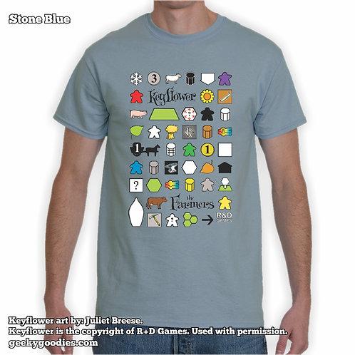 Keyflower: The Farmers Men's/Unisex T-shirt (Dark Colors)