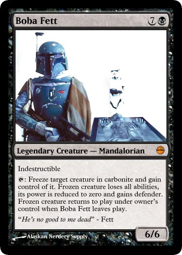 Boba Fett Magic the Gathering Custom Foil Card | Geeky Goodies