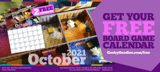 Get Your FREE Board Game Calendar - free download