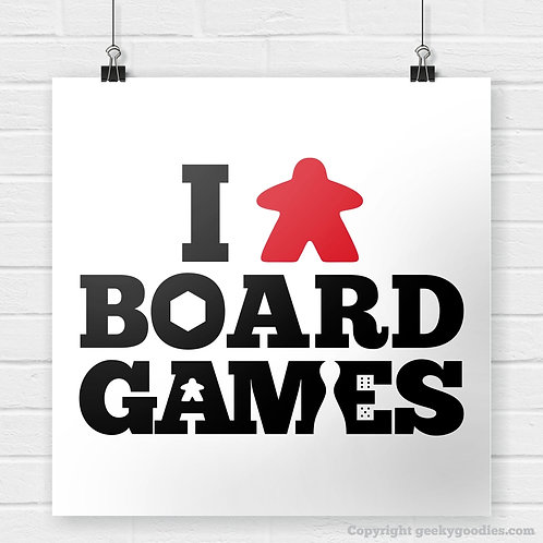 I (Meeple) Board Games Poster