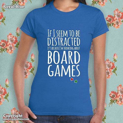 Thinking About Board Games Women's FITTED T-shirt