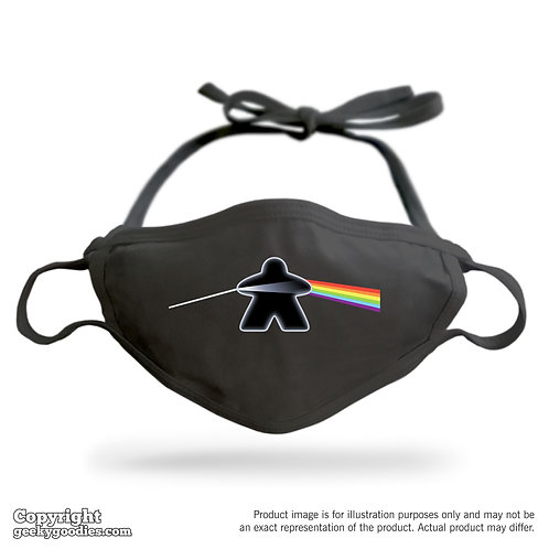 The Dark Side of the Meeple Adjustable Cloth Face Mask