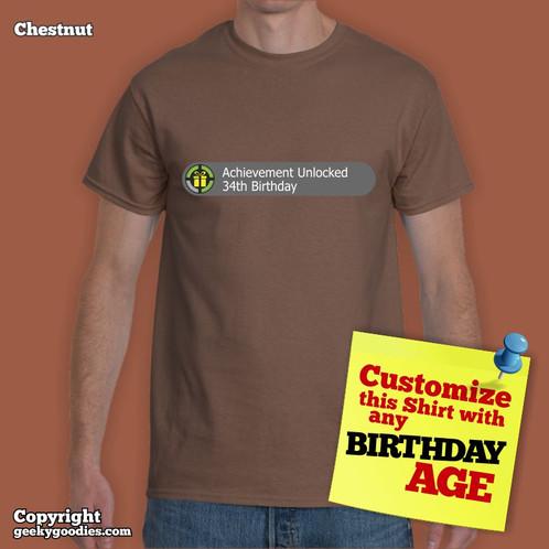 Achievement Unlocked Custom Birthday Shirt CUSTOMIZE THIS SHIRT