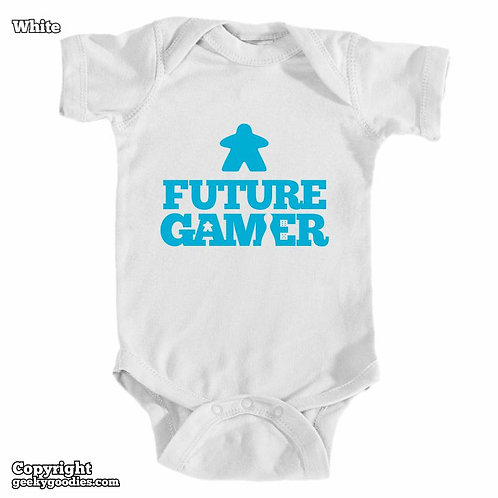 Future Gamer Baby Onesies / Infant Bodysuits (Blue Letters)