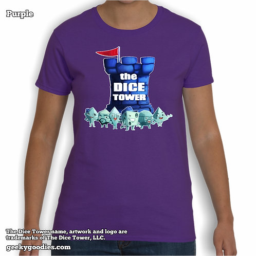 Dice Tower Gang (with Logo) Ladies Tshirt
