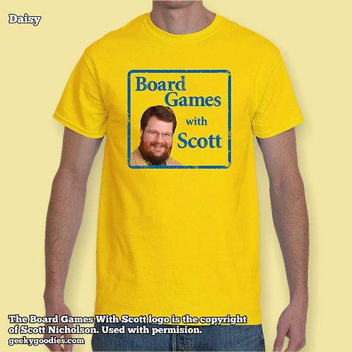 Board Games With Scott (Retro/Distressed Look) Mens/Unisex Tee (Light Colours)