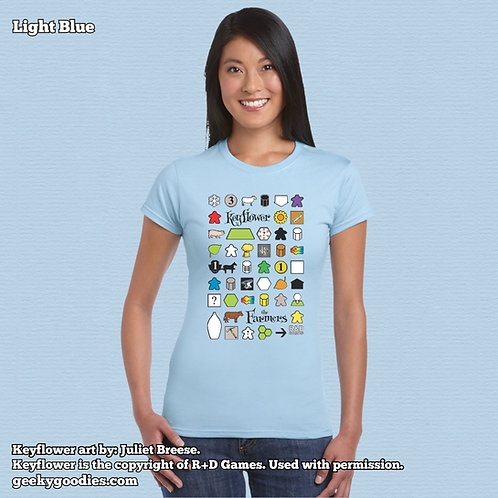 Keyflower: The FarmersLadiesFITTED T-shirt