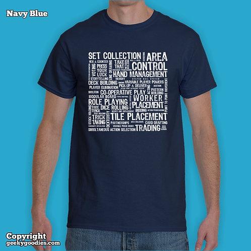 Board Game Mechanics Mens/Unisex T-shirt