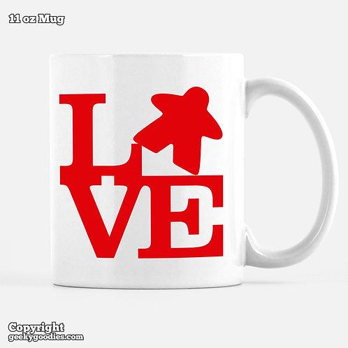 LOVE (Meeple) Mug