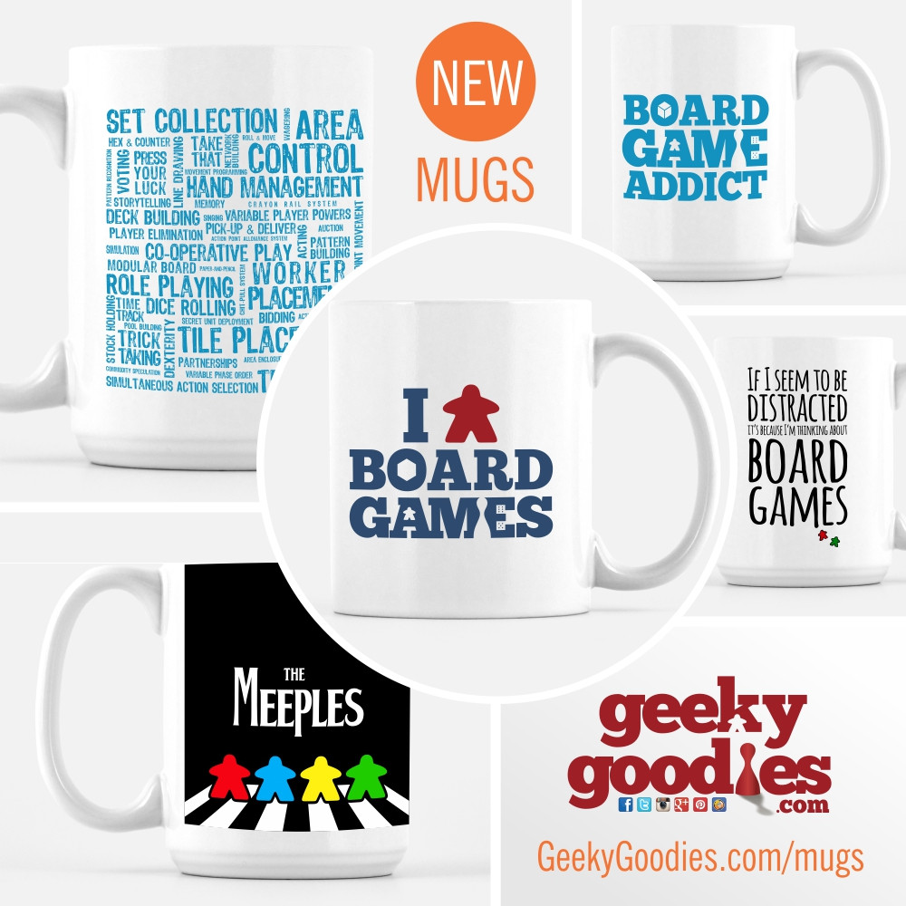 Board Game Mugs | Mugs for Board Gamers | Tea and Coffee Mugs | Gift Ideas for Board Gamers | Geeky Goodies