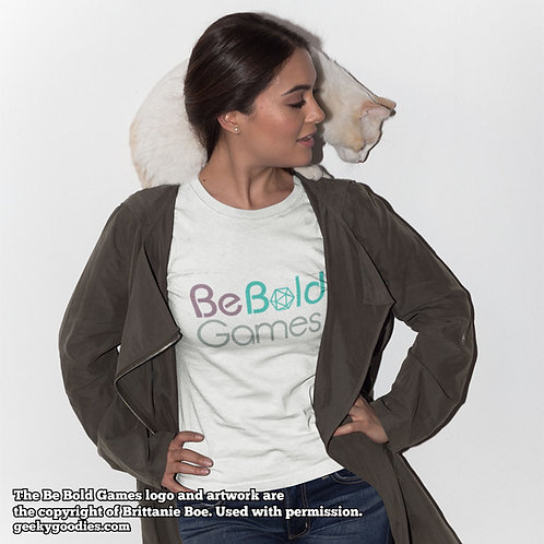 Be Bold Games Logo Women's White Tee Shirts