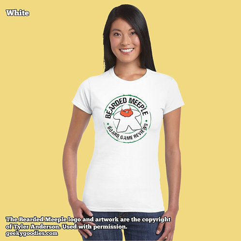 Bearded Meeple Women's FITTED White T-shirts