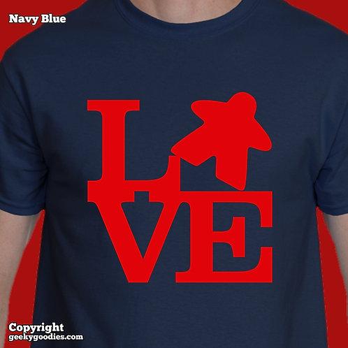 LOVE (Meeple) Men's/Unisex T-shirt