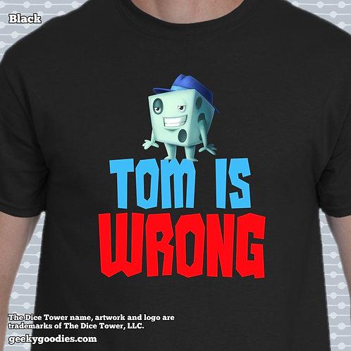 Tom is Wrong Dice Tower Men's/Unisex T-shirt (Dark Colors)