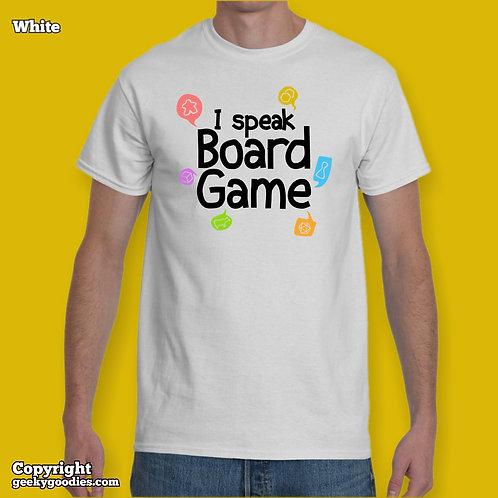 TALL Sizes I Speak Board GameMen's/Unisex White T-shirts