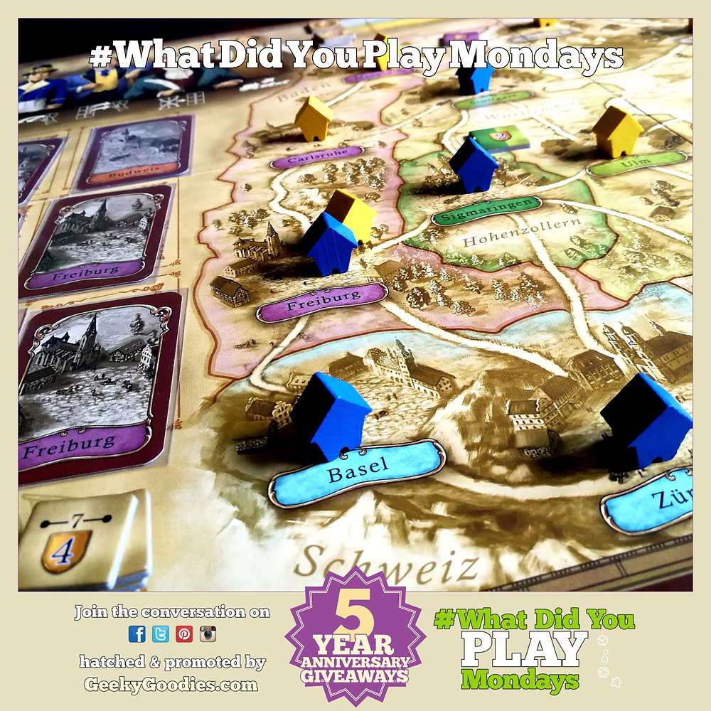 What board and tabletop games did you play during the previous week/weekend?  Share your game plays and thoughts using #WhatDidYouPlayMondays