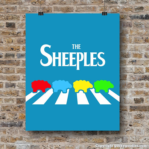 The Sheeples of Abbey Road Poster