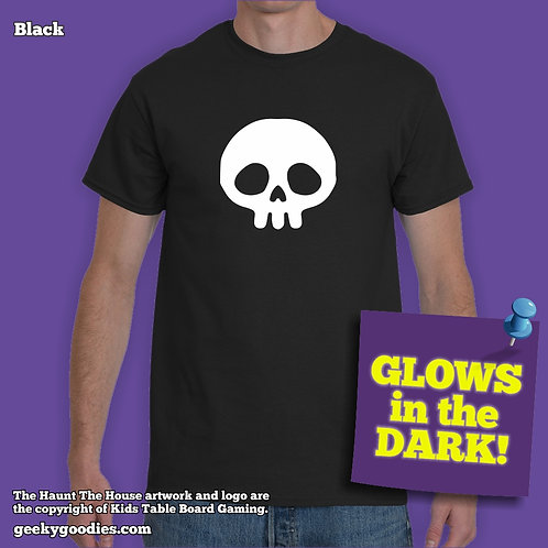 Haunt The House Glow-in-the-Dark Skull Men's/Unisex T-shirt