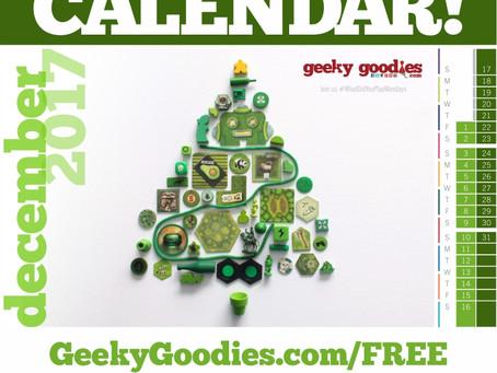 FREE Board Game Calendar for December 2017