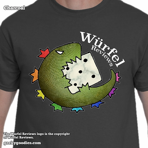 Würfel Reviews Mens/Unisex T-shirt (Dark Colors)