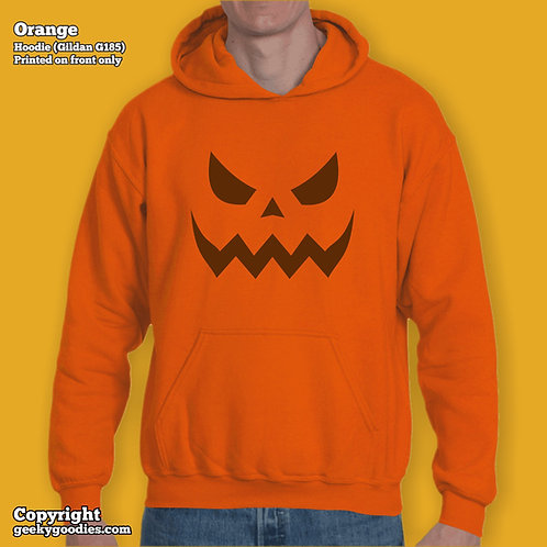 Scary Halloween Pumpkin Mens/Unisex Hoodies