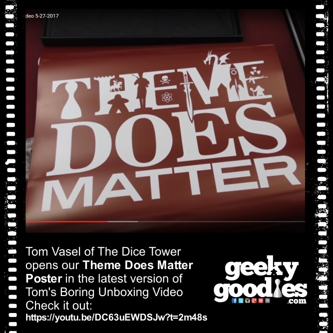 Tom Vasel | Theme Does Matter Poster