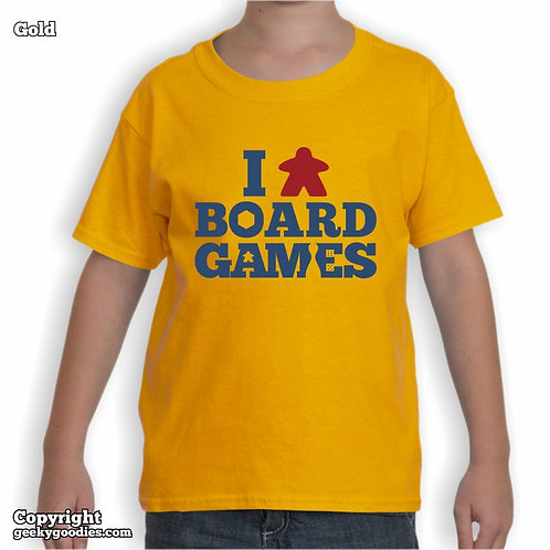 I (Meeple) Board Games Children's T-shirt (Light Colours)
