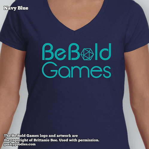 Be Bold Games Blue Logo Ladies' FITTED T-shirts