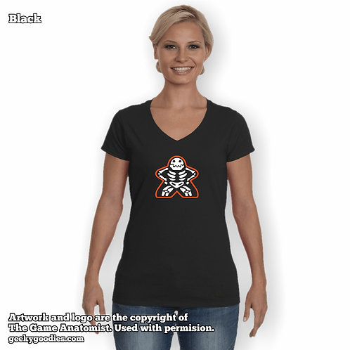 The Anatomy of a Meeple Women's FITTED V-Neck T-shirts