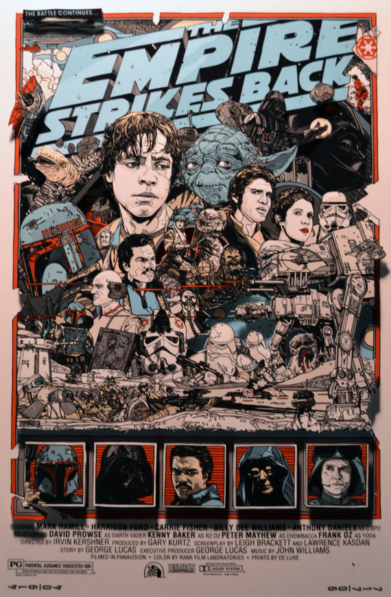 The Empire Strikes Back Mondo 3D Poster Art | Geeky Goodies