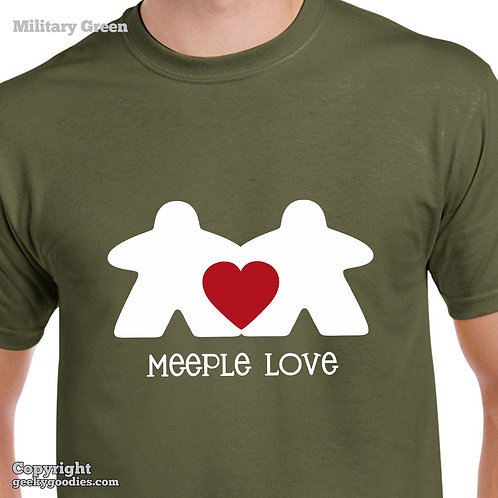 Meeple Love Mens/Unisex T-shirt (Dark Colours)