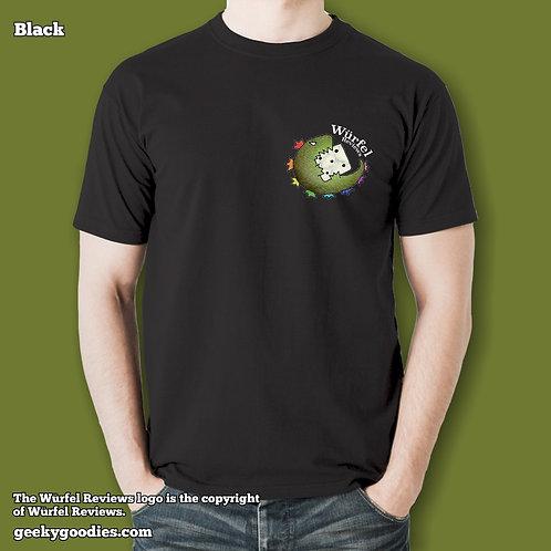 Würfel Reviews (Small Logo/Pocket-Size) Mens/Unisex T-shirt (Dark Colors)